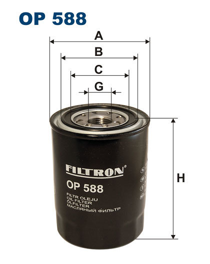 Filtr oleju FILTRON OP588 - darmowa dostawa do 5000 warsztatów Motointegrator Partner i 170 sklepów Inter Cars