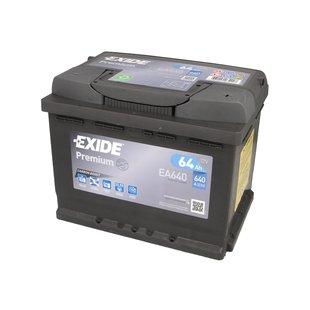Akumulator EXIDE PREMIUM EA640 - 64Ah 640A P+ - Montaż w cenie przy odbiorze w warsztacie!