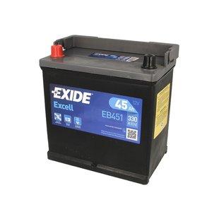 Akumulator EXIDE EXCELL EB451 - 45Ah 330A L+ - Montaż w cenie przy odbiorze w warsztacie!