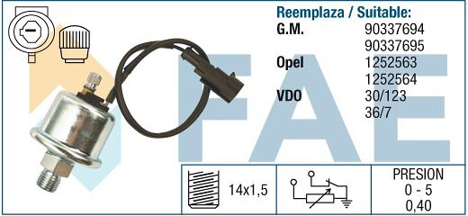 Czujnik ciśnienia oleju FAE 14010