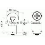Żarówka (pomocnicza) P21W BOSCH Trucklight Heavy Duty - karton 1 szt., cokołowa