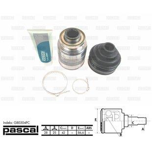 Przegub napędowy wewnętrzny PASCAL G80304PC