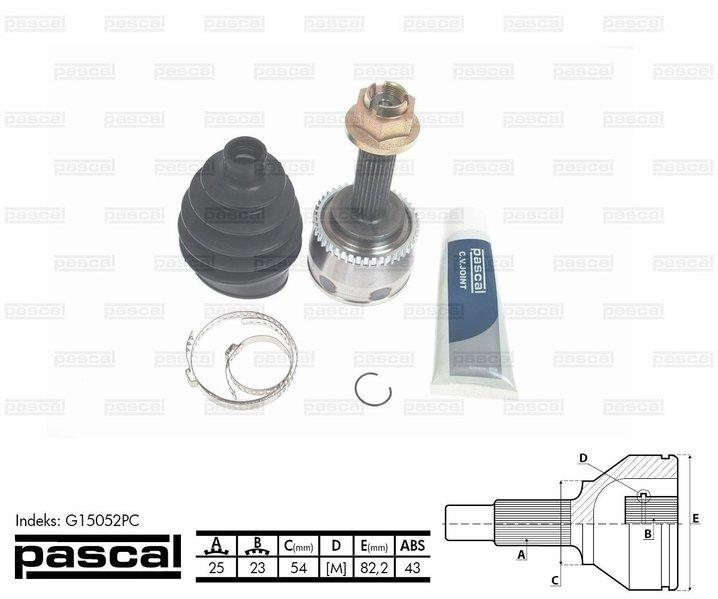 Przegub napędowy zewnętrzny PASCAL G15052PC - darmowa dostawa do 5000 warsztatów Motointegrator Partner i 170 sklepów Inter Cars