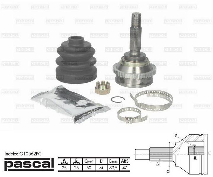 Przegub napędowy zewnętrzny PASCAL G10562PC - darmowa dostawa do 5000 warsztatów Motointegrator Partner i 170 sklepów Inter Cars