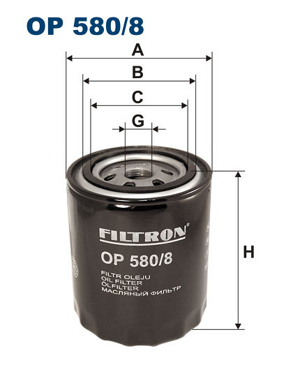 Filtr oleju FILTRON OP580/8 - darmowa dostawa do 5000 warsztatów Motointegrator Partner i 170 sklepów Inter Cars