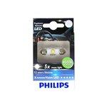 Żarówka LED (pomocnicza) C5W PHILIPS X-tremeVision LED - karton 1 szt.