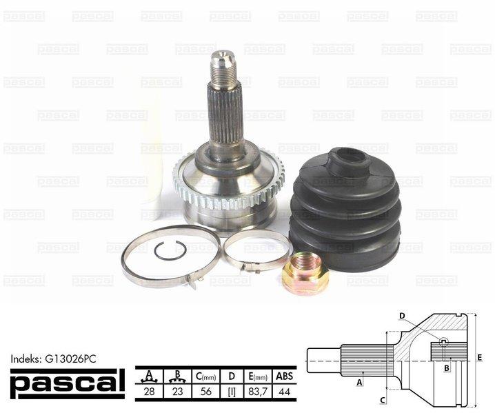 Przegub napędowy zewnętrzny PASCAL G13026PC - darmowa dostawa do 5000 warsztatów Motointegrator Partner i 170 sklepów Inter Cars