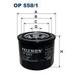 Filtr oleju FILTRON OP558/1