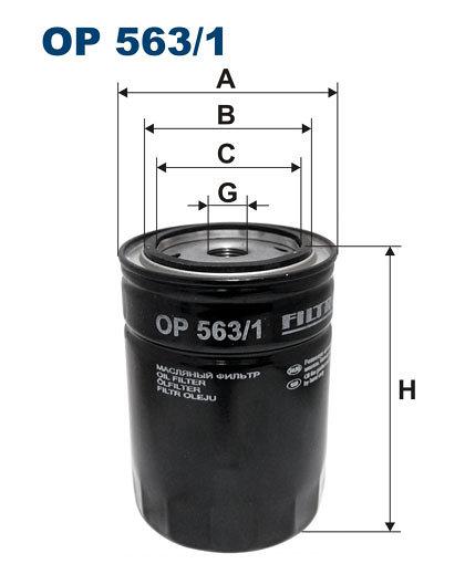 Filtr oleju FILTRON OP563/1 - darmowa dostawa do 5000 warsztatów Motointegrator Partner i 170 sklepów Inter Cars